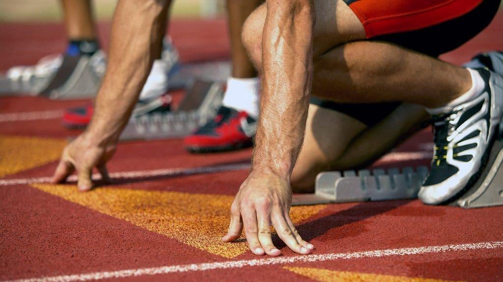 runner starting