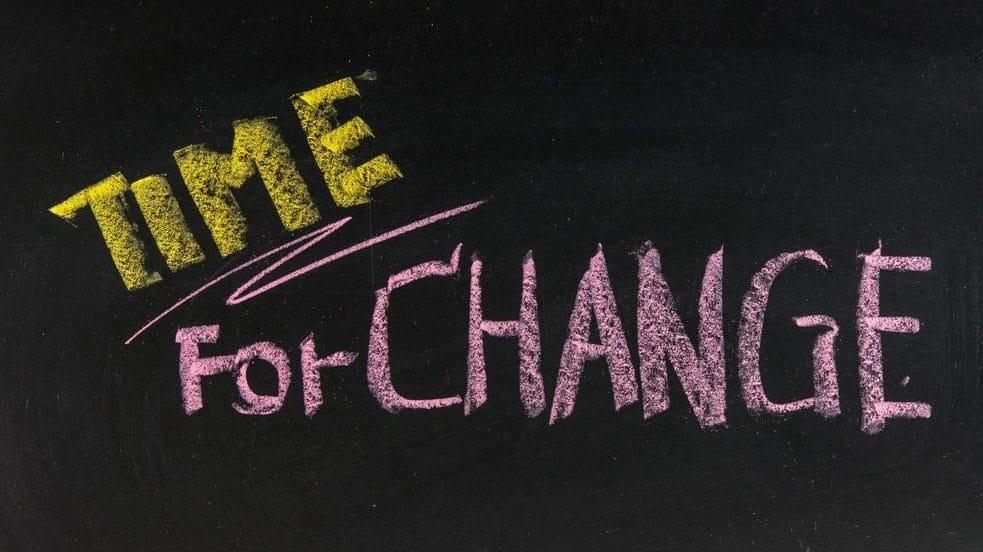 change chalkboard